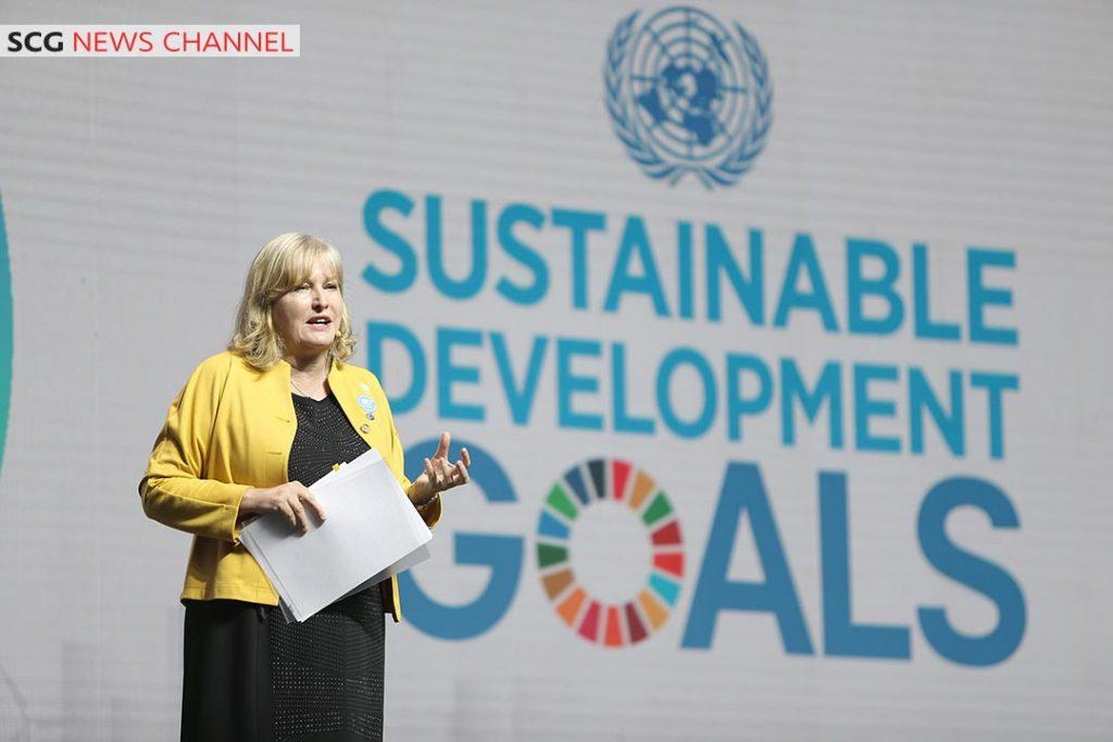 Deirdre Boyd ตัวแทนจาก UN ร่วมกล่าวเปิดงาน