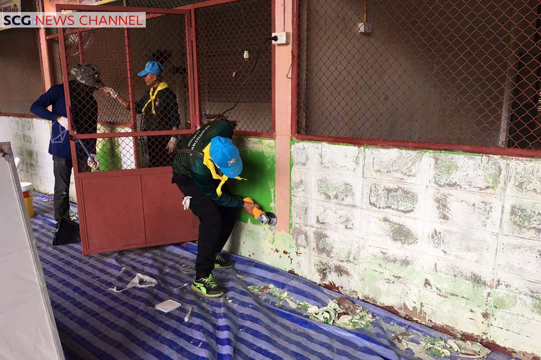พนักงานปูนซิเมต์ไทยแก่งคอยและกรมทหารพรานที่ 23 ร่วมทำความสะอาด