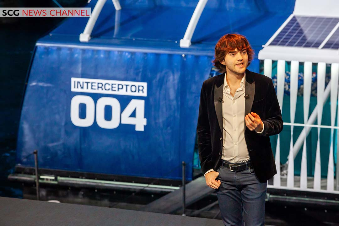 Boyan Slat The Ocean Cleanup CEO at the launch of The InterceptorTM. Photo credit The Ocean Cleanup