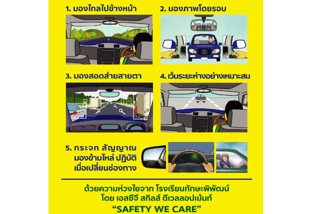 3 มอง 2 ปฏิบัติ ขับขี่ปลอดภัย